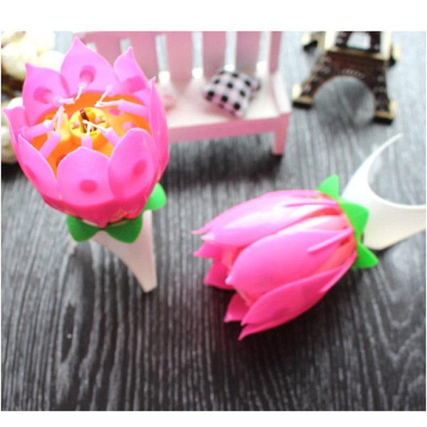 top popular Lotus Music Candle Lotus Singing Birthday Party Cake Music Flash Candle Flower Music Candle Cake Accessories Holiday jllicS mxyard 2021