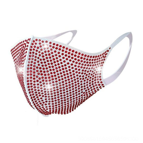 490-masque blanc rouge # 76856