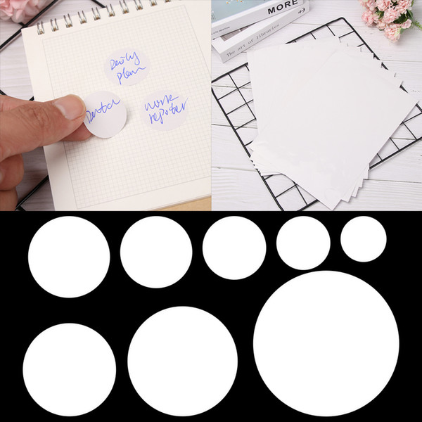 best selling 5 Sheets Round Self Adhesive Stickers Circular A4 Laser or Inkjet Printer labels Circle Package Label Stationery School Supplies