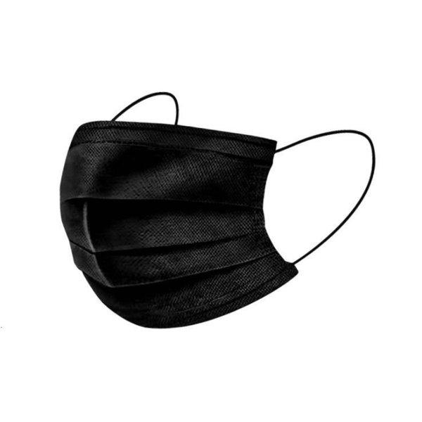 Las máscaras faciales desechables negro