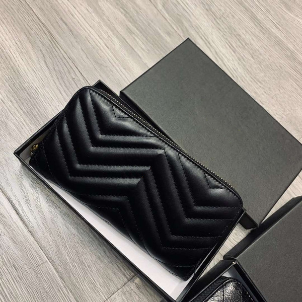 best selling New Designer Wallet for Women Brand Long Wallet Purse for Ladies Fashion Clutch Bag With Box Designer Billetera