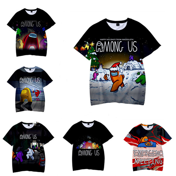 best selling in stock!!! Game Among Us 3D Print T-shirt child Short Sleeve Crew Neck T-shirt Boy Girls Pullover Blouse Tshirt for Kids Adults dhl free