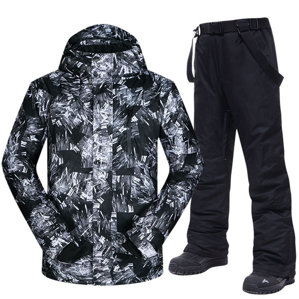 top popular Ski Suit Men Winter Warm Windproof Waterproof Outdoor Sports Snow Jackets and Pants Hot Ski Equipment Snowboard Jacket Men Brand 201203 2021