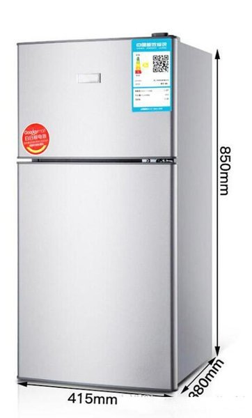 top popular BCD-118 small refrigerator home double door small refrigerator freezer rental electric energy saving dormitory Door structure double door 2020