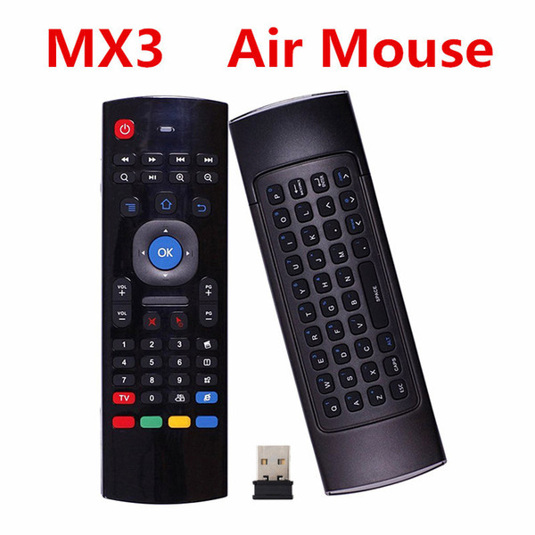 top popular X8 Air Fly Mouse MX3 2.4GHz Wireless Mini Keyboard Remote Control Somatosensory IR Learning 6 Axis for S905X T95X MXQ PRO 2021