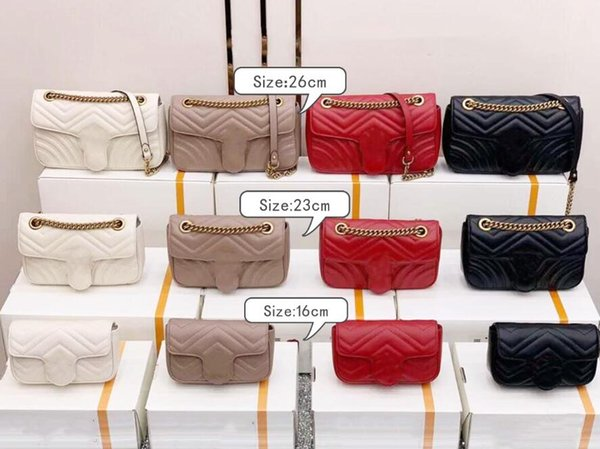 top popular 2020 All colors styles handbags purses new fashion women crossbody bag girl shoulder bags 3 size classic chain ladies bag 2020