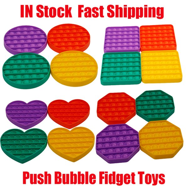 best selling Push Bubble Fidget Toys Autism Special Needs Stress Reliever Helps Relieve Stress Increase Focus Soft Squeeze Decompression Toy