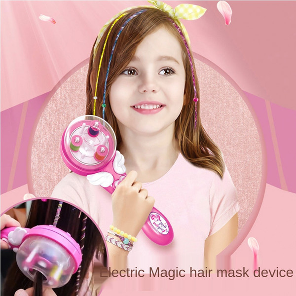 best selling Girl Electric Magic Braid Pretend To Play with Children's Toys Gifts Magic DIY Hairstyle Princess Hairdressing Toys