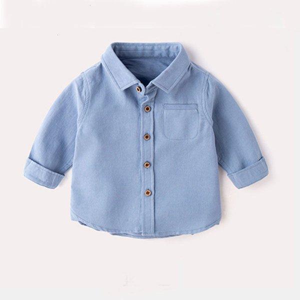 Sky Blue Lapel Shirt