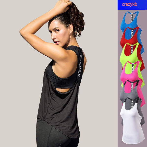 best selling New Sexy Yoga Vest Sleeveless Solid Color Quick Drying Running Women Gym Sport Female Yoga Shirts Fitness Tank Crop Tops
