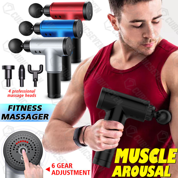 top popular Muscle Massage Gun Neck Muscle Massager Pain Therapy for Body Massage Relaxation Pain Relief 2021