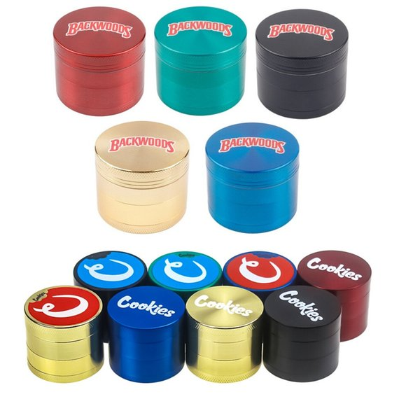 best selling Backwoods Grinder 40mm 50mm 55mm 63mm Tobacco Slicer 4 Layers Herb Crusher Colorful Grinders Hand Muler Smoking Accessories