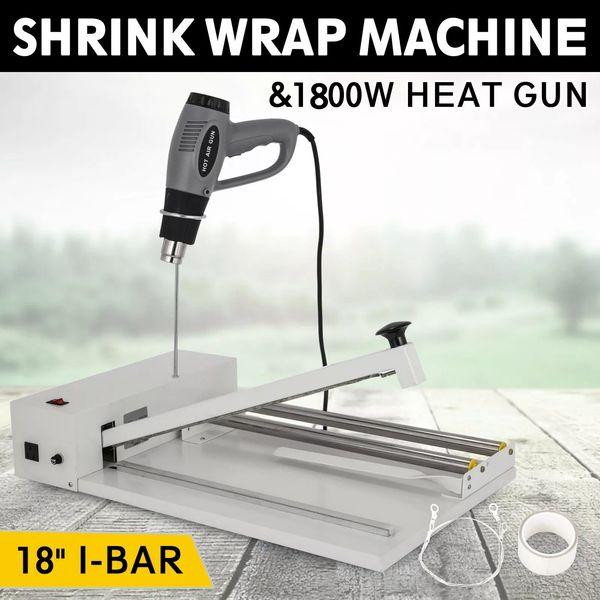 top popular Powder-coated & durable 18inch I-Bar Shrink Wrap Machine Heat Sealer Heat Gun Food Soap Instant Seal easy to operate 2021