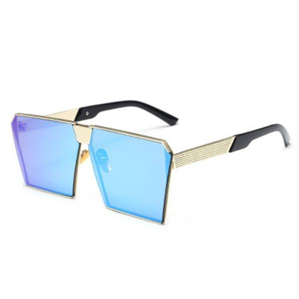 Altın Çerçeve Buz Mavi-Güneş Gözlükleri