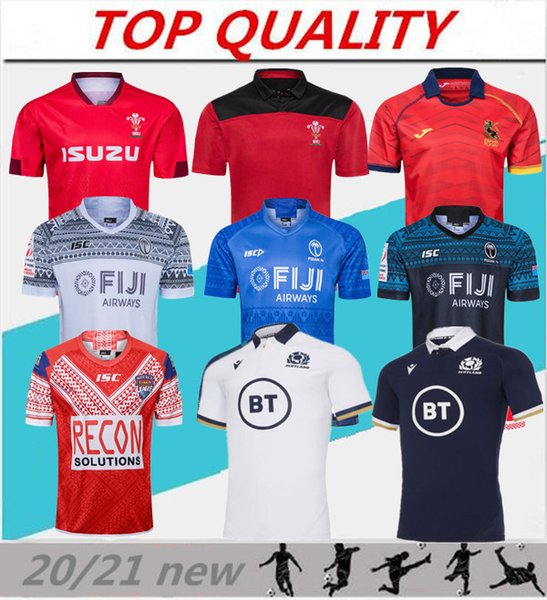 best selling 2020 2021 rugby world cup jersey Wales red jerseys 20 21 rugby league Spain rugby shirts Scotland Fiji Tonga shirts
