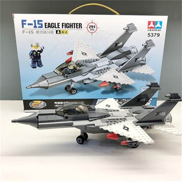 best selling Aircraft fighter building blocks children 6-12 years old model intellectual assembly toy