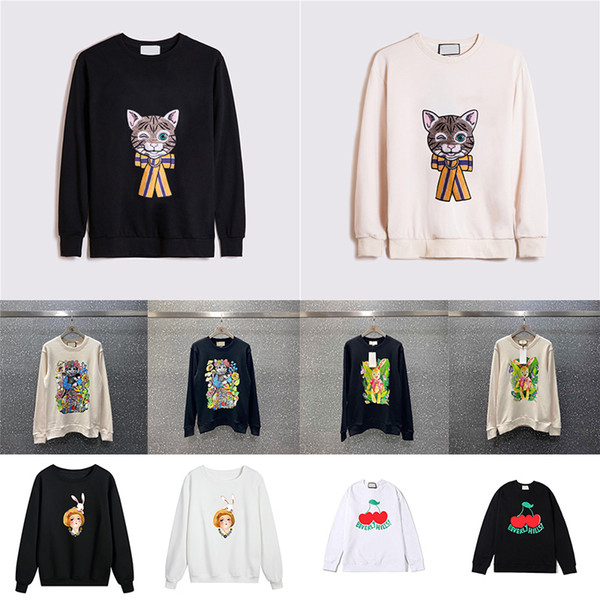 best selling 2021 New Hot Womens Designer Hoodies Fashion Lamb Animal Autumn Winter Mens Long Sleeve Hoodie Pullover Clothes cat Sweatshirts Asian Size