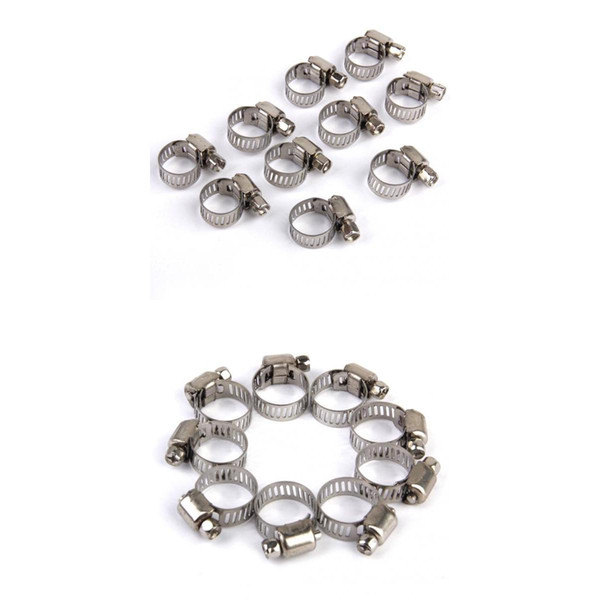 best selling 20x Adjustable Car Fuel Pipe Hose Clips Stainless Spring Clamp 8-12mm+10-16mm
