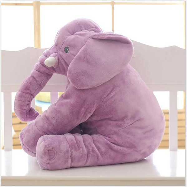 best selling Plush Elephant Toy Baby Sleeping Back Cushion Soft stuffed animals Pillow Elephant Doll Newborn Playmate Doll Kids toys squishy 60cm 40cm