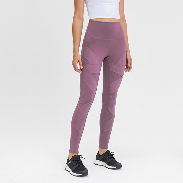 best selling 42%off Hot Sale! Autumn new matte splicing Yoga Pants high waist hip elastic tight sports Capris for women