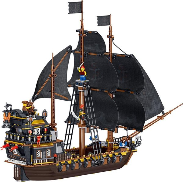 top popular Hotselling ed Pirate Ship Compatible Yongheng Buildingblock Toys Compatible with ed DIY Educating Children Christma Gift 2020