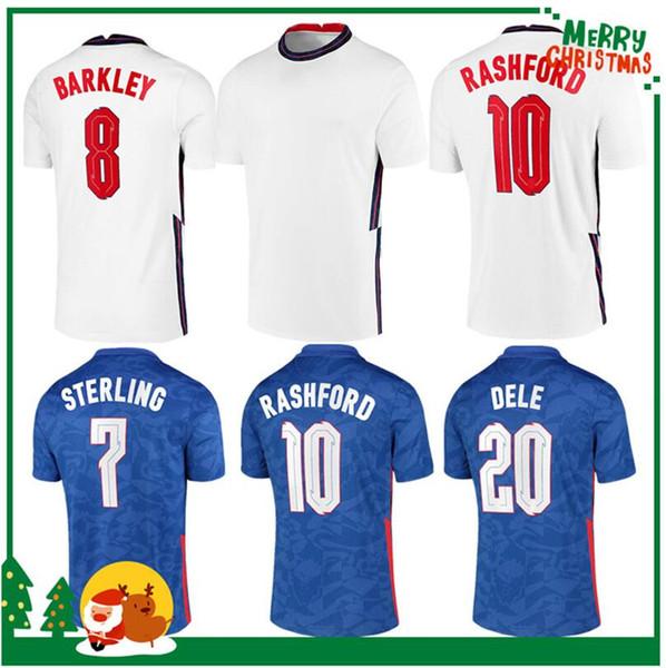 top popular 2020 ENGLAND DELE ALLI soccer jerseys KANE RASHFORD VARDY BARKLEY STERLING STURRIDGE SANCHO jersey 2021 Adult men + kids kit football shirt 2021