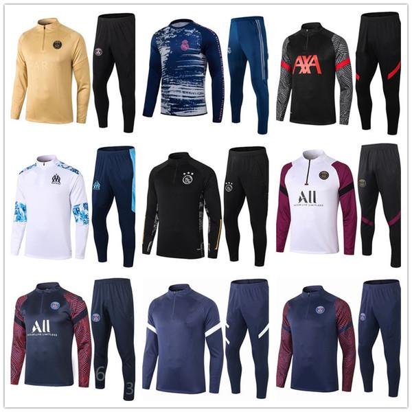 best selling top 20 21 mens football tracksuit soccer training suit jacket 2020 2021 men training survetement foot chandal futbol tuta jogging