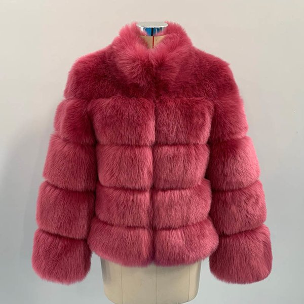 Purple Pink Fur Coat