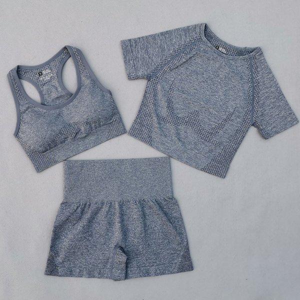 Gray Blue 3 Pcs Set