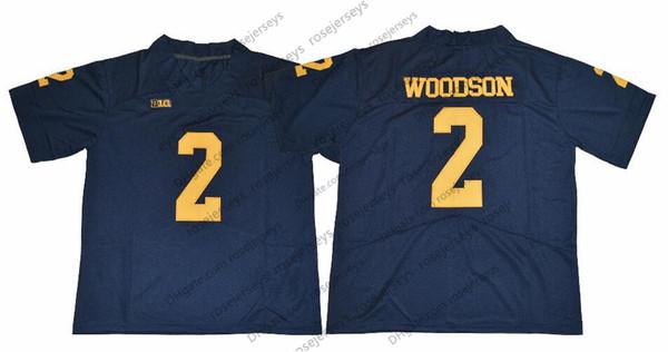 2 Charles Woodson Bleu marine