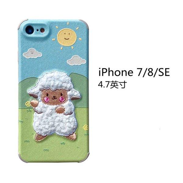 Iphone 7 / 8 / Se Embroidery Prairie Sheep