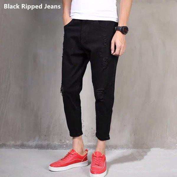 Jeans rasgados negros