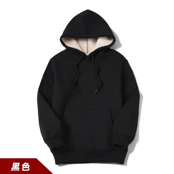 Wy202 Cashmere Hooded Black Sweater