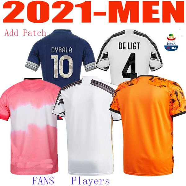 best selling 20 21 Juventus top quality RONALDO JUVE fans players soccer jerseys PALACE DYBALA adult football shirt set DE LIGT Men Kit uniforms je