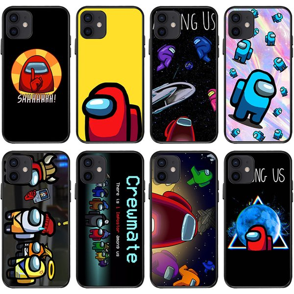 top popular Among Us Game Phone Case Protective TPU Cover for Cellphone Iphone 12 11 PRO X XS MAX XR Plus Smartphones Soft Back Cover 2021