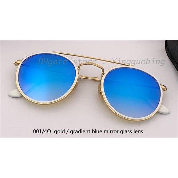 001 / 4o ouro / gradiente espelho azul