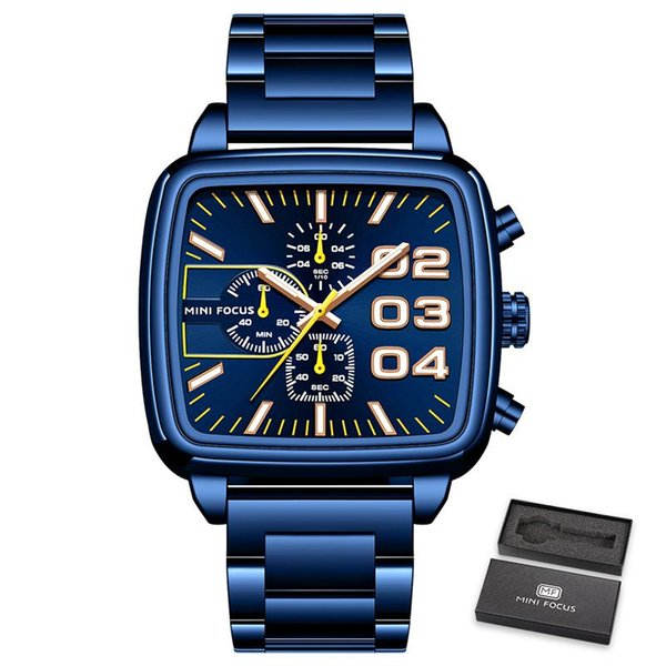 синий часы
