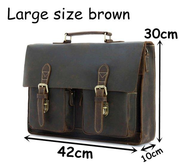 Gran color marrón oscuro42cm