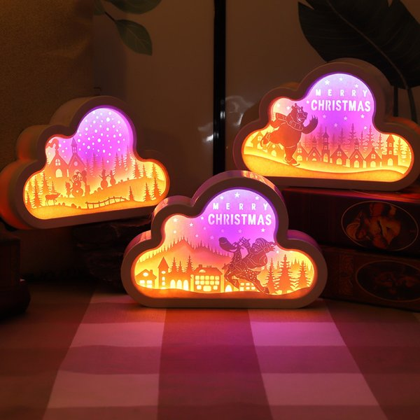 best selling 2021 New Usb battery Operated 3d Paper Carving Night Bedroom Christmas Decorative Light Table Lamps Valentines Day Birthday Gifts Bsc6