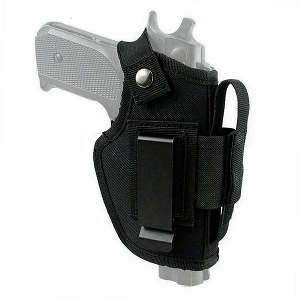 top popular Nylon Tactical OWB Belt & Clip Gun Holster with Magazine Pouch fits Ruger LC9 & LC9s 2021