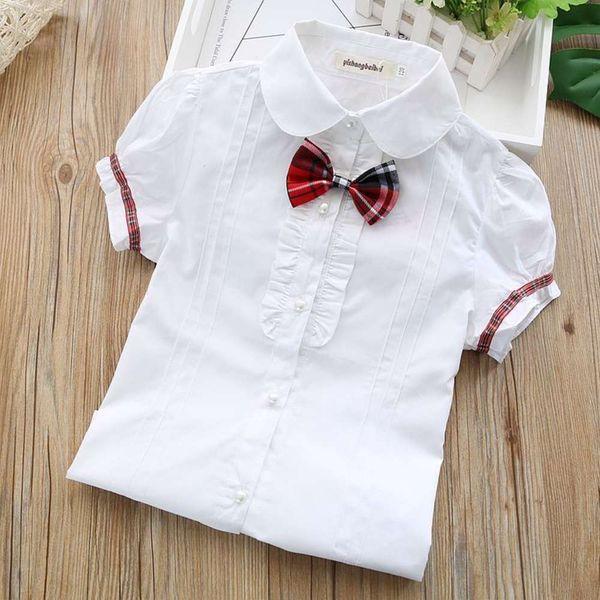 Sleeve à manches courtes à carreaux + nœud papillon à carreaux rouges