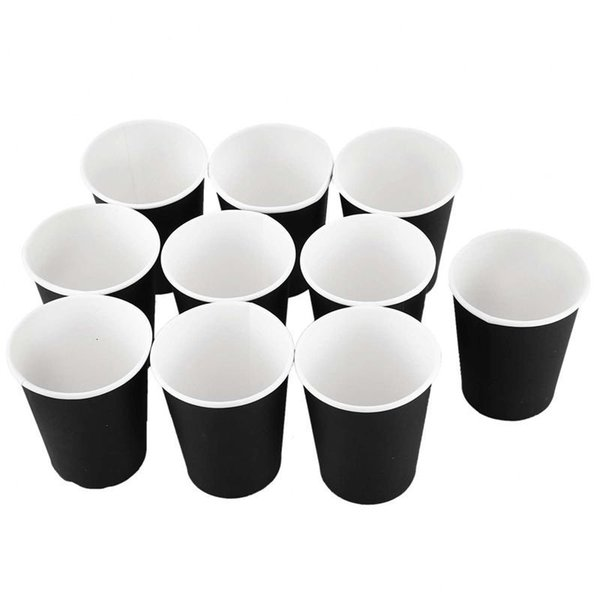 best selling Wedding Home 10PCS for Party Tableware Cups Drinking New Black ZSgl#