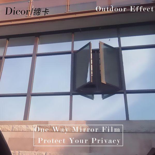 top popular 40 50 60*600CM Reflective UV Window Sticker Self Adhesive Mirror Film Heat Transfer Vinyl Glass Stickers 236.2in roll Y200421 2021
