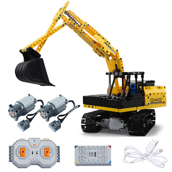 """best selling MOC engineering construction site excavator model 544"""" Everyone can lift and rotate remotely with a technology engine."""