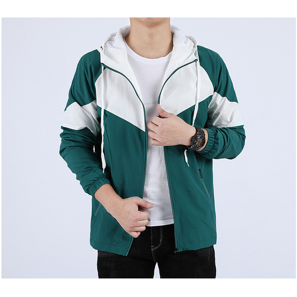 top popular Men Women Jacket Coat Sweatshirt Hoodie Mens Clothes Asian Size Hoodies Long Sleeve Autumn Sports Zipper Windbreaker spring CFUAKNOTA 2020