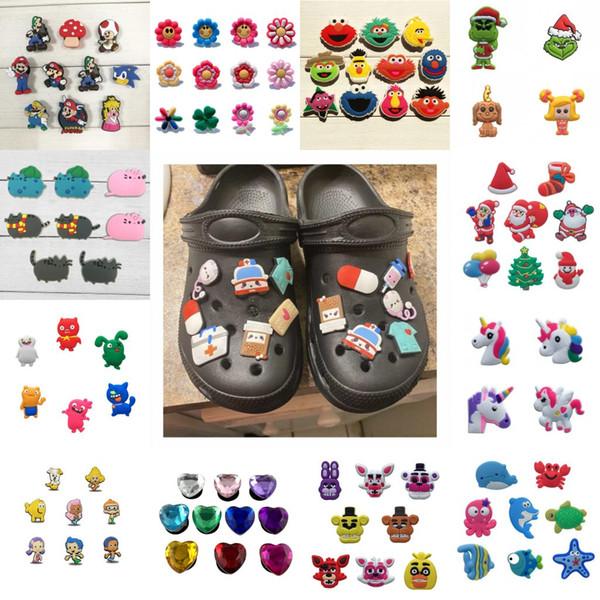 best selling Free DHL 1000PCS cute cartoon buzzword Action Figure PVC Shoe Charms Shoe Buckles Fit Bracelets Croc JIBZ Shoe Ormaments