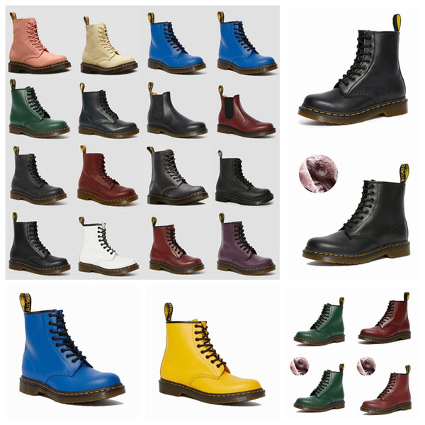 best selling mens womens dr classic martin designers men women ankle doc desert boot cowboy combat with fur martins Leather winter snow boots shoes tim