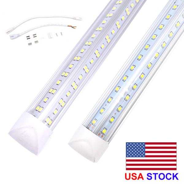 top popular 8ft led tube lights V-Shape 8 foot design shop LED lights fixture 2ft 3ft 4ft 5ft 6ft Cooler Door Freezer lighting fluorescent Lamps 2021