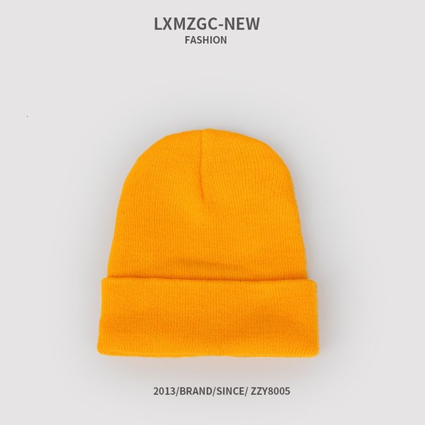 Sombrero de punto fluorescente - naranja claro