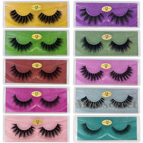 top popular 3D Mink Eyelashes CS series Mink Lash 10 Styles 3d Mink Lashes Natural Thick Fake Eyelashes Makeup False Lashes Extension DHL Free Shipping 2020